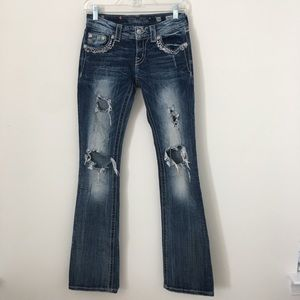 Miss Me Jeans Bootcut Size 26 Distressed